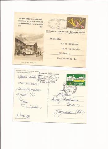 2 postkarten n30