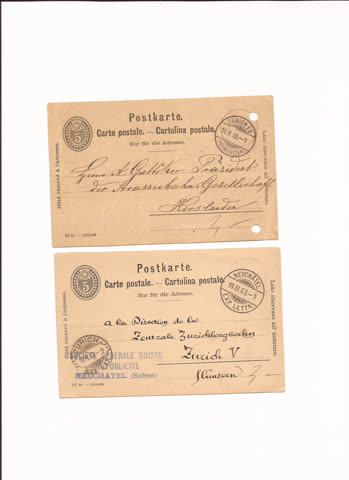 2 postkarten n10