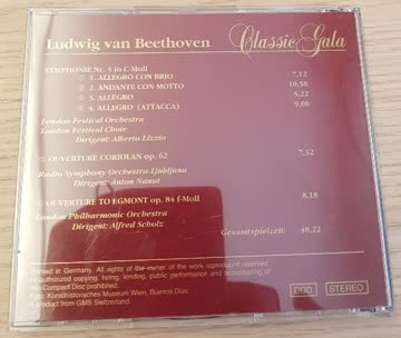 Classic Gala - Beethoven - Symphonie Nr. 5 in C-Moll OP. 67