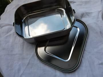 ZERO WASTE Edelstahl Lunchbox , 2 Flaschen
