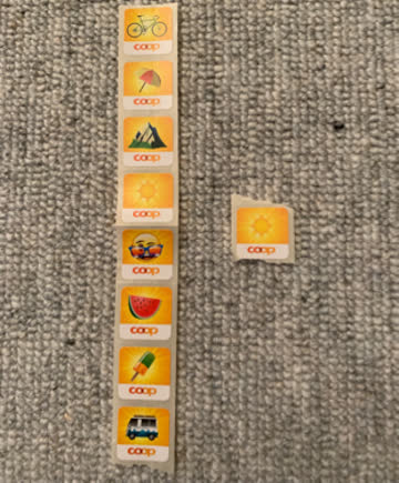 9 Sticker Coop Emoji Sommer