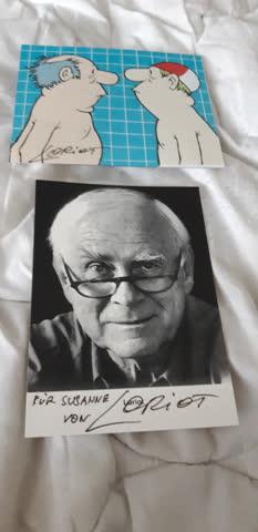 Originalautogramme von Loriot