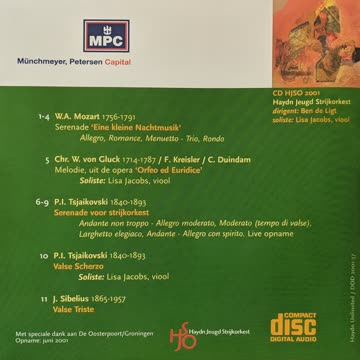 Haydn Jeugd Strijkorkest - Mozart, Gluck, Tsjaikovski, Sibal