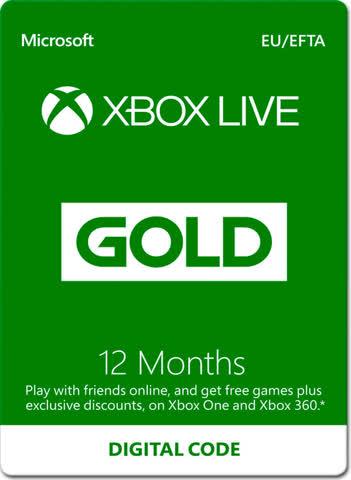 Xbox Live Gold 12 Monate