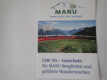 Gutschein MANU- Bergferien CHF 50.-