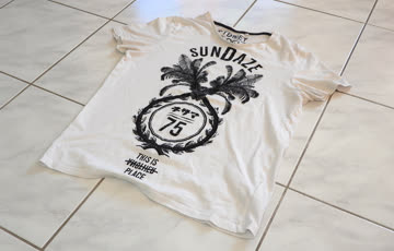 T-Shirt weiss mit Motiv, Grösse L