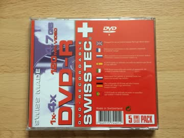 DVD-R 4.7 GB 120 min Video Fabrikneu