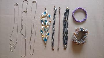6x Armband und 3x Metall-Kettchen