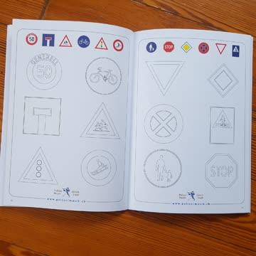 Malbuch für Kinder -Polizei