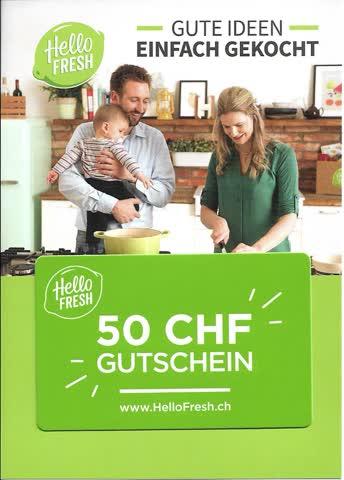Gutschein HelloFresh CHF 50