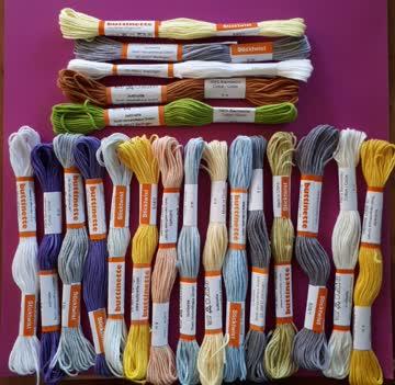 20 Stängchen Stickgarn verschiedene Farben