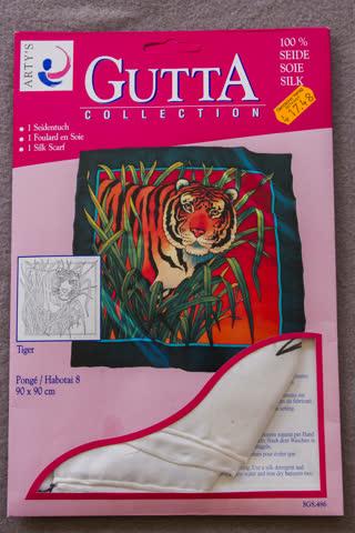 ARTY'S Gutta-Seidentuch 90x90 mit Tiger-Motiv