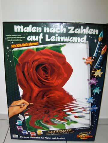 "Malen nach Zahlen ""Reflections of a Rose"""