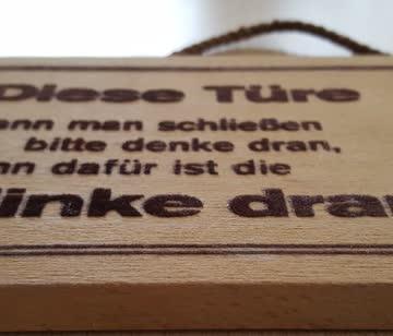 Holz-Türschild