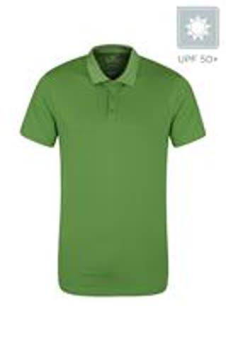 Polo-Shirt grün, Grösse XXXL, mit UV-Schutz
