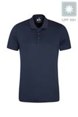 Polo-Shirt navy, Grösse XXXL, mit UV-Schutz