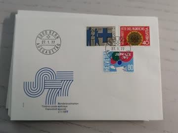 1977 FDC Helvetia