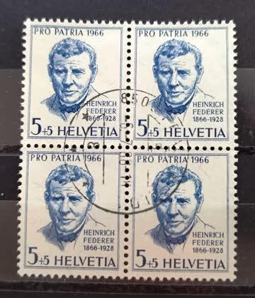 1966 Viererblock Pro Patria
