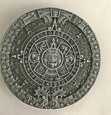 Maya-Kalender-Gürtelschnallen für Männer