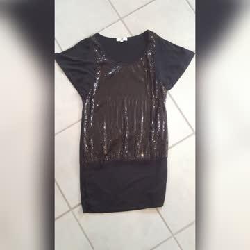 Paillettenkleid schwarz