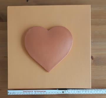 Bild orange mit Herz