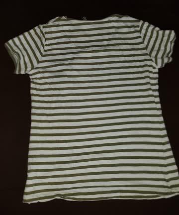 Oliv gestreiftes Shirt, Gr. S