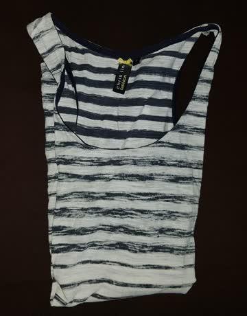 Nachtblau gestreiftes Shirt, Gr. S