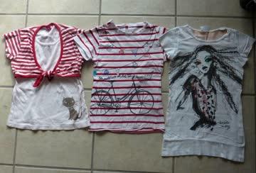 3 Mädchen T-Shirts - Gr.128