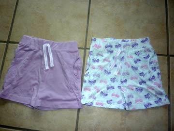 2 Kurze Hosen für Mädchen - Gr. 98