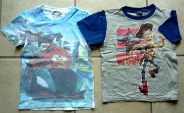 2 T-Shirts für Jungen - Gr. 110/ 116