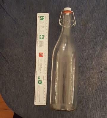 Glasflasche 1lt mit Bügelverschluss