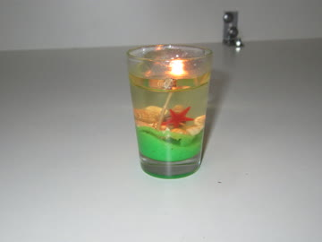 4 kleine Gel Kerzen