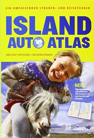 Island Auto Atlas Reisefhrer Map