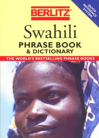 Swahili Phrase book a diction. (1995) (Berlitz Phrasebooks)