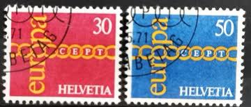 1971 Helvetia ET-Stempel