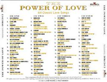 The Power Of Love - 64 Classic Love Songs (4CD Box Set)