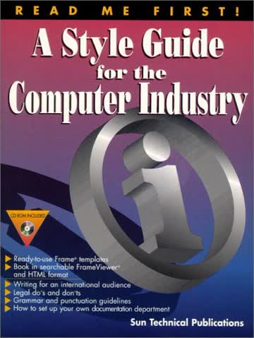Read Me First!: A Style Guide for the Computer Industry