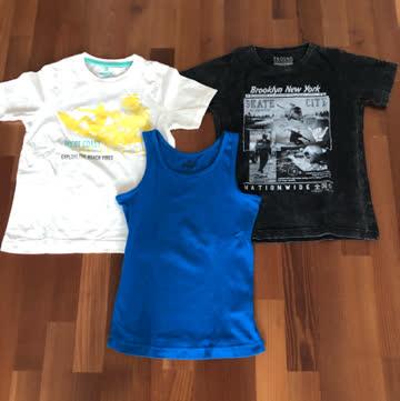 2 Tshirt + 1 Trägershirt