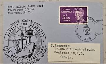 1964 USA Beleg mit Sonderstempel