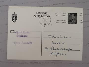 1963 Norwegische Postkarte