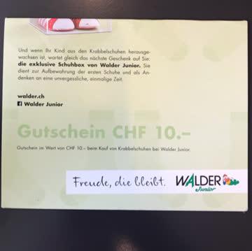 Gutschein Walder Junior Kind 10.- CHF