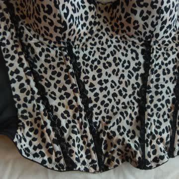 Corsage Leopardendruck