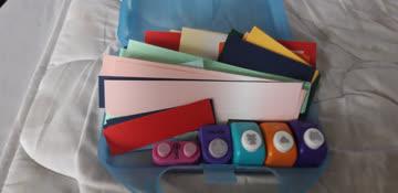 Papierset im Koffer mit 5 Stanzern