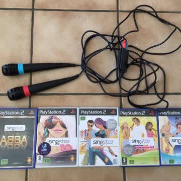 Playstation 2 Singstar Set mit 5 Spielen