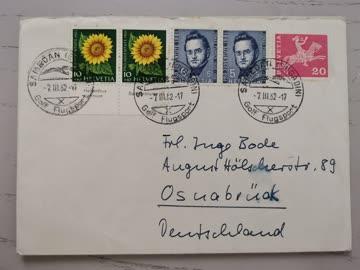 1962 Beleg Schweiz