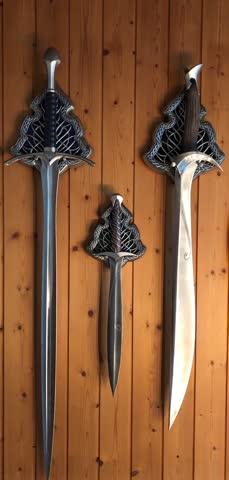 Hobbit/Herr der Ringe Schwerter Stich, Glamdring, Orcrist