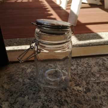 Deko Gläschchen mit Bügel - Verschluss