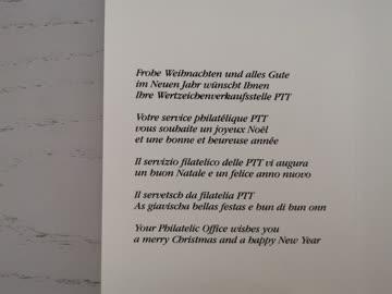 1986 Neujahrswünsche der PTT