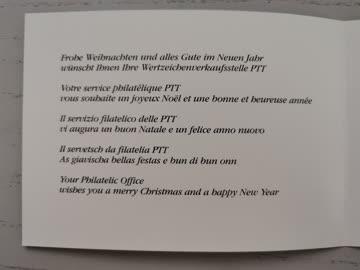 1988 Neujahrswünsche der PTT