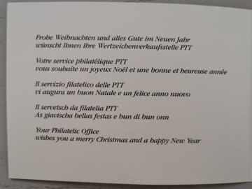 1989 Neujahrswünsche der PTT